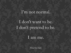 It is what it is, I am what I am.
