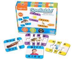 Look what I found on Spellable Spelling Puzzle Set by Smart Play Educational Games For Preschoolers, Preschool Games, Learning Phonics, Learning Games, Spelling Games For Kids, Board Games For Couples, Learn To Spell, Sound Words, New Puzzle