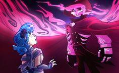 Illustration by Hailey Lain at Coroflot.com--- Vivi and Lewis of Mystery Skulls