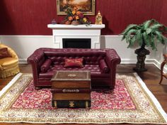 Dollhouse Miniature Table Book Ottoman by Ray Whitledge Signed | eBay