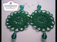 TUTORIAL 2 . * ORECCHINI TONDI ALL' UNCINETTO * HOW TO do EARRINGS CROCHET - YouTube