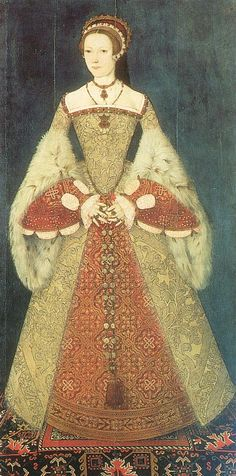 Catherine Parr (thought to be Lady Jane) attributed to Master John, c.1545. (National Portrait Gallery, London)