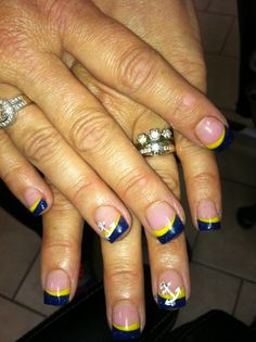 navy blue french manicure