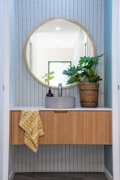 Featuring Byron Blackbutt by New Age Veneers Floating Vanity, Bathrooms, Age, Mirror, Inspiration, Furniture, Home Decor, Biblical Inspiration, Bathroom