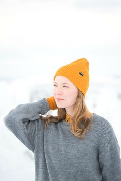 Spring beanie for Women and Men. Merino wool beanie gots and bluesign certified wool, ecological and ethical clothing. Light and flexible beanie, long fit. Made in Finland. Casual Winter Outfits, Spring Outfits, Chunky Oversized Sweater, Beanie Outfit, Ethical Clothing, Rib Knit, Finland, Merino Wool, Knitted Hats