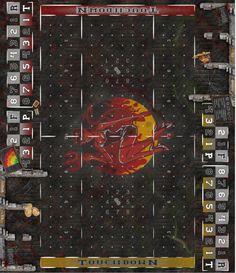 Fantasy Football Spielfeld - Dungeon III (Bibliothek)