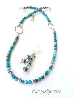 Excited to share the latest addition to my #etsy shop: Pacific Blue Apatite (matte), Gemstone Necklaces, Ethnic Earrings, Women's Gemstone Necklace, Tibetan Spacer, Charm, 20 Inches, Adjustable #jewelry #necklace #boho #20inches #mother'sday #earrings https://etsy.me/2InLcG4