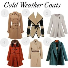"""""""Cold Weather Coats"""" by najadiamond on Polyvore"""
