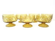 Anchor Hocking Lido Glassware Gold Set of 7 by 1006Osage on Etsy, $17.50