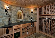 Basement wine and beer cellar template