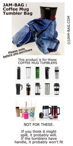 + Damaged Jean style Coffee Tumbler Mug Bag +  Great Coffee Gift for you and for your coffee loving friends! Eco-Friendly BYOB item! Reusable Washable Bag for Drink Tumbler!  Dimension and details will be added later. For promotional purpose, Free Domestic Shipping for this item. (Yes, it comes with tracking number!)