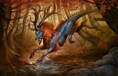Autumnal Qilin by *KatePfeilschiefter on deviantART