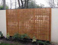 Resultado de imagen para reja de madera patio