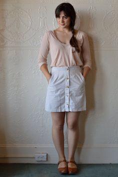 90s Khaki Button Front Mini Skirt on Etsy, $28.00