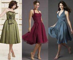 Modelos de Vestidos para Madrinhas de Casamento: Dia e Noite