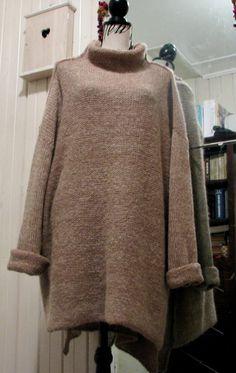 Knit alpaca sweater Oversized Chunky knit sweater. Slouchy / Bulky / Loose knit woman poncho sweater. Wool sweater. blanket Vest Scarf Shawl by PonchoShawlScarves on Etsy