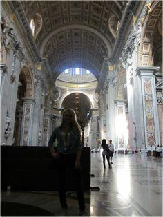 Caitlin Sullivan inside St. Peter's Basilica http://www.itgirlweddings.com/wifestyle/sistine-chapel-the-vatican