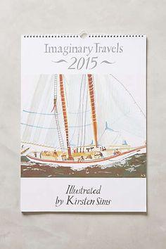Imaginary Travels 2015 Calendar #anthrofav #wantthis