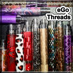 Designer Egos at The Vapor Girl: One for your every mood~ Over 60 variations and counting!