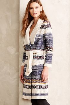 Fireside Sweater Robe #anthroafve #anthropologie