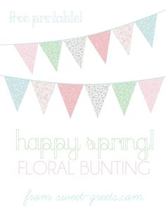 Pretty spring floral bunting
