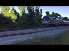 Amtrak train #166 northbound at Cherry Hill, in Dumfries, Va. 5/15/17 - YouTube