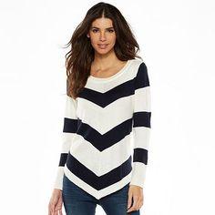 AB Studio Mitered Striped Sweater - Women's