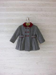 Vintage Toddler Coat ... Classic 1960's Wool Velvet ... 12-24 Months