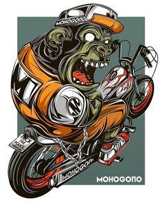 Big monkey …….. #mohogono #vector #vectorillustrations #vector_id #characterdesign #pirategraphic #thailand #udontani #adobe #adobeillustrator #digitalart #artistdrop #bestvector #graphicdesigncentral...