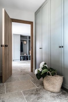 Bespoke boot room design for this country house from Home Renovation, Home Remodeling, Boot Room Utility, Utility Room Storage, Storage Units, Walnut Doors, Oak Doors, Home Decoracion, Door Casing
