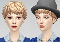 JS Boutique: Female Medium Curly Hair • Sims 4 Downloads