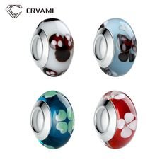 CRVAMI Beads, 2016 Fashion Authentic Silver Plated Murano European Glass Bead…