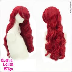 Gothic Lolita Wigs® Classic Wavy Mermaid Lolita™ Collection - Crimson Red – Dolluxe®