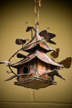 Cool Copper Birdhouse!