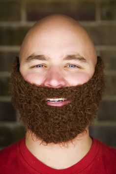 I struggled trying to figure out if I should put this in my LOL or Yarn category. Knit beard!