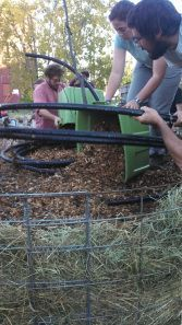 Composting Wood Chips to Heat Greenhouse