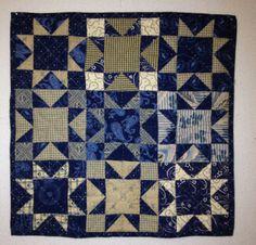 Jo Morton design - Jo's Little Women club 2 - Indigo Stars Doll Quilt