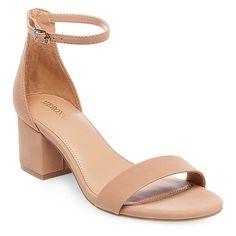 Women's Marcella Low Block Heel Pumps with Ankle Straps - Tan 11 #anklestrapsheelslow #tansandalsheels #tananklestrapsheels