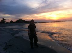 My young Marine on the Jersey Shore