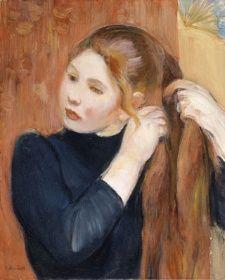 Ung pige, der ordner sit hår - Berthe Morisot, 1893