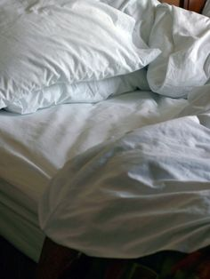 Nach ein bis zwei Wochen kommt die Bettwäsche an ihre Grenze