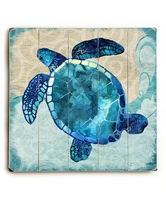 Look at this Sea Turtle Wood Wall Decor on #zulily today!