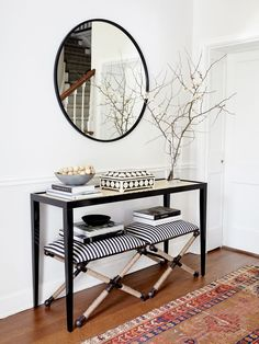 Home Decor – Entryway : Global chic entryway with modern styling -Read More –