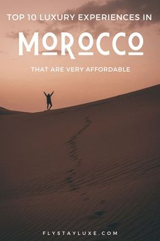 Luxury in Morocco is relatively affordable. Here's our pick of the best luxury experiences to have in Morocco. Many of these experiences take place in Marrakech - hot air ballooning over the Atlas Mountains, shopping in the Design District, museums, staying in luxury Riads and glamping in the Sahara Desert! #moroccotravel #saharadesert #moroccanriad #marrakechtips #morocco