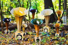 'Sonic Arboretum' - collaboration between inventor Ian Schneller and composer Andrew Bird. Photo: David Kindler