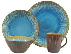 Hometrends Ocean Oasis 32-Piece Dinnerware Set, Turquoise I think I ...