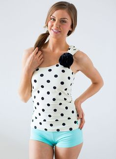 Polka dot swim suit is a must for the summer! Cute Modest Swimsuits - Summer 2014