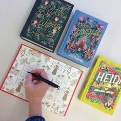 Have you seen the new #PuffinInBloom collection? These gorgeously #illustrated #classics were designed by #riflepaperco's lead #artist #annabond #penguinclassics #design #Heidi #ALittlePrincess #AnneofGreenGables #LittleWomen