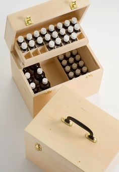 Aromatherapy Practitioner Wooden Cases - http://www.polmacuk.com/
