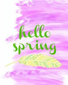 hello spring printable twelveOeightblog.com #spring #springdecor #printable #freeprintable #watercolor #modern